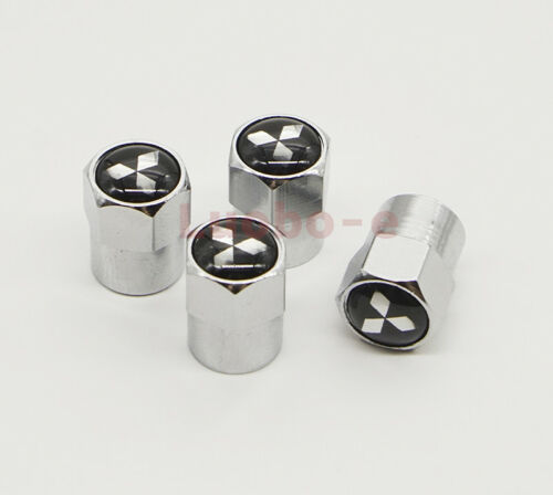 4x Car Auto Wheel Tire Dust Stem Cover Tyre Valve Cap Accessories For Mitsubishi