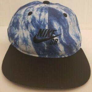 55c8cff5b Details about Nike SB Skateboard Youth Sky Blue Tie Dye Snapback Hat Cap  Skating Polyester