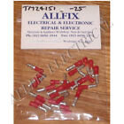 Red Insulated 4mm Male Bullet Crimp Terminals (Pkt 25) - Part # TM24151-25
