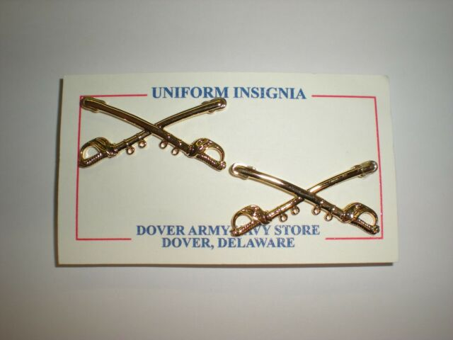 US ARMY OFFICER CAVALRY COLLAR INSIGNIA - 1 PAIR
