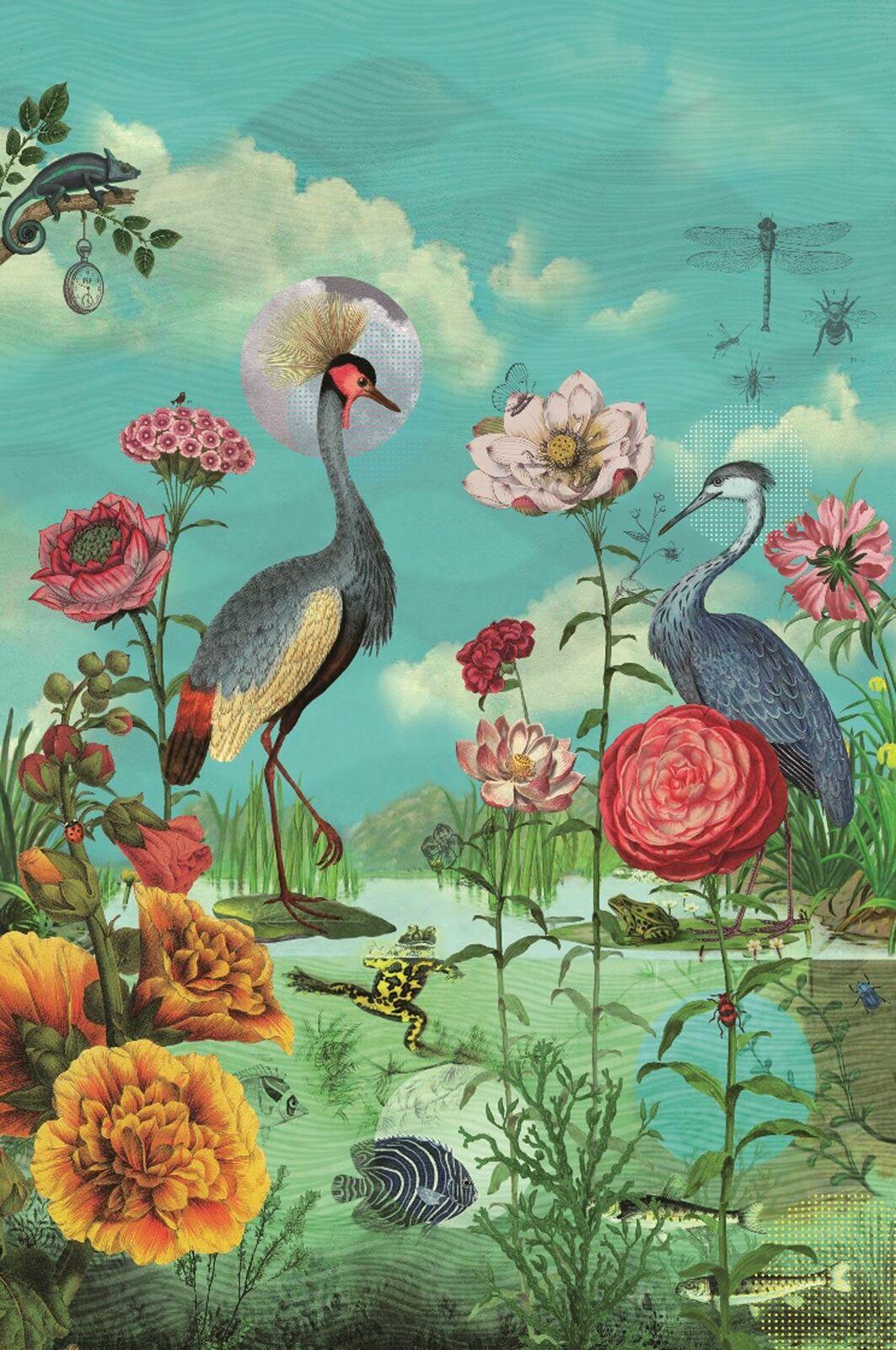 341099 - Pip Studio 3 Kiss the Frog Multicoloured Eijffinger Wallpaper Mural