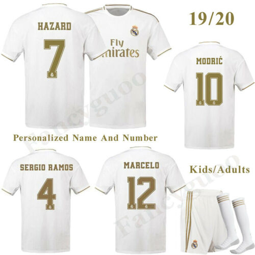 19-20 Football Full Kits Kids//Adults Youth Jerseys Strips Training Outfits+Socks