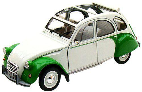 NOREV 1 18 AUTO DIE CAST CITROEN 2CV DOLLY 1985 BIANCA E verde ART 181512