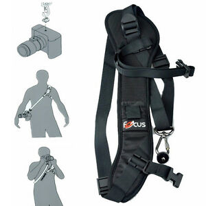 Pro-Anti-slip-Foucs-Quick-Rapid-Speed-Carry-Sling-Strap-Camera-DSLR-DV-Camcorder