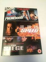 Phone Booth / The Siege / Speed (DVD, 2004, 3-Disc Set)