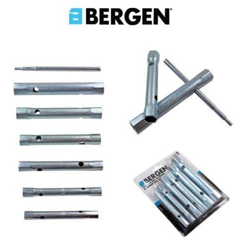 BERGEN 6PC Box Spanner Set 8-19 mm + Torque Bar Plombiers tubulaire clé 1992