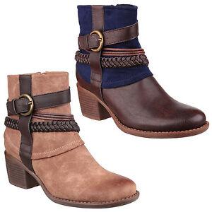 Da 8 Zip Finto Uk3 Stivali Infilare Moda Caviglia Donna Divaz Vado Alla Camoscio AgfYfq
