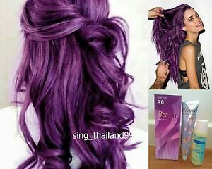 Image Is Loading 1x Berina A6 Violet Purple Color Hair Cream
