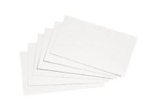 """Revision Flash Presentation Notes Pack of 100 6/""""x4/"""" Plain Records Cards"""