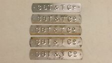 5 Southern Bell Telephone & Telegraph Co. Telephone Pole Aluminum Tag SBT&T