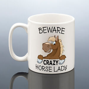 Image Is Loading CRAZY HORSE LADY MUG Birthday Gift Her Women