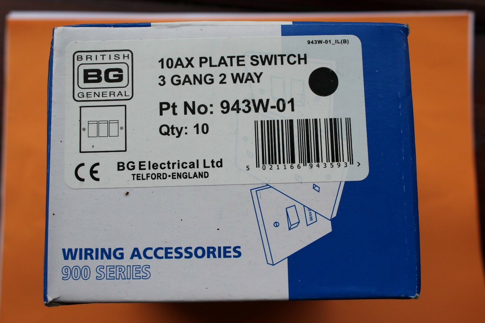 Bg 943w 01 Standard 10ax Triple Plate Switch 3 Gang 2 Way White Wiring Accessories Norton Secured Powered By Verisign