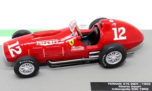 FORMULA-1-AUTO-COLLEZIONE-FERRARI-375-INDY-1952-ALBERTO-ASCARI-1-43-modello-F1-NUOVO