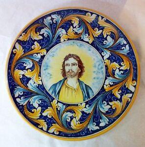 Piatti Ceramica Di Caltagirone.Piatto D Cm 40 Decorato A Mano In Ceramica Di Caltagirone Ebay