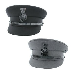 Image is loading Quality-Chauffeur-Cap-in-Black-or-Light-Grey- 93bb0aa15fc4