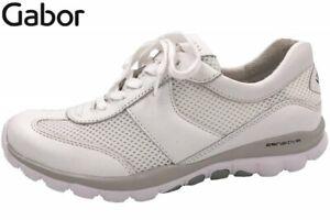 Details zu Gabor Rollingsoft Damen Halbschuh Weiß Leder Schuhe 26966 50