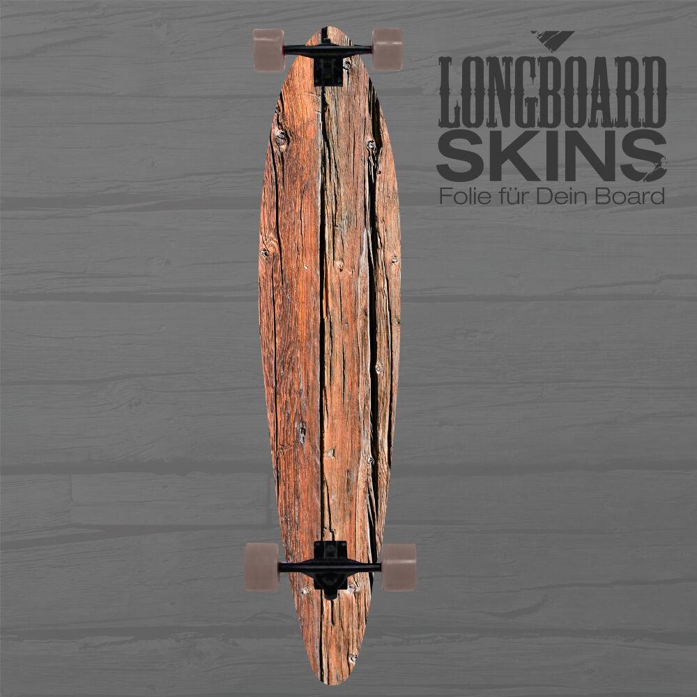 LONGBOARD SKIN    Holz Design Aufkleber Cover Schutz SKATEBOARD LONGBOARDTATTOO 2901b0