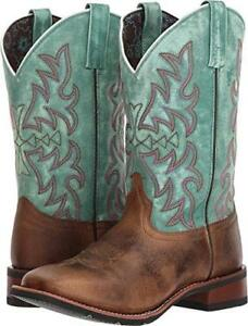 426cd98546c Details about Women's LAREDO Western Leather Brown Turquoise Square Toe  Cowgirl Boots NIB 5607