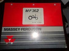 Massey Ferguson Mf 362 Tractor Parts Manual New Sealed 061994