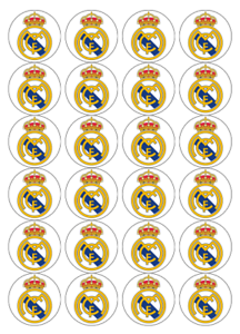 24 X Large Real Madrid Edible Cupcake Toppers Birthday Party