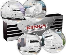 2010 Tuvalu, 1 dollar, Kings of the Road, Trucks, Gigamax, Cascadia, R500, W900