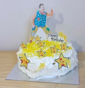 MR TUMBLE edible 3D scene cake decoration set stand up birthday toppers