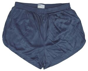 Soffe-Crown-Blue-Nylon-Ranger-Panties-Silkies-Running-Track-Shorts-Men-039-s-Small