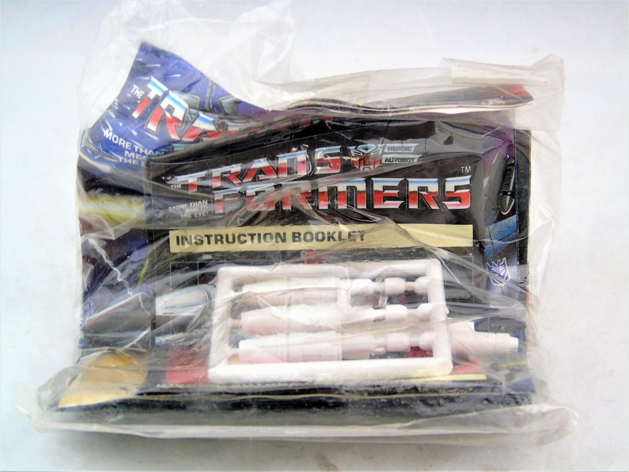 Transformers Original G1 1984 Sideswipe Sealed Sticker Accessory Packet