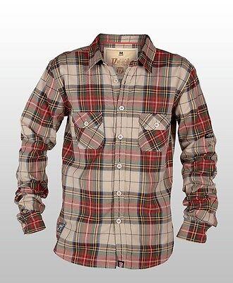 Mens Big Size Duke Vintage Look Long Sleeve Flannel Check Shirt - 4XL Last One!