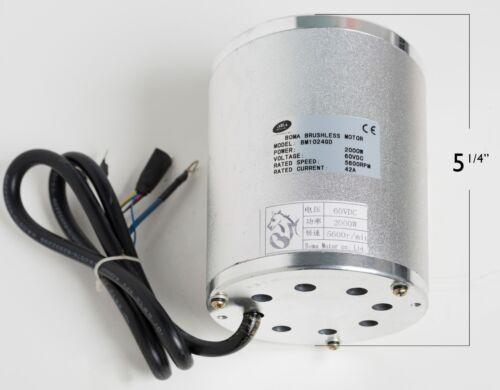 2000W Watt 60V Volt BLDC electric motor w Base BOMA BM1020 T8F sprocket GoKart