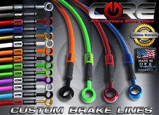 CORE MOTO Kawasaki Ninja 250 2008-2012 Brake Line set front rear SS braided kit