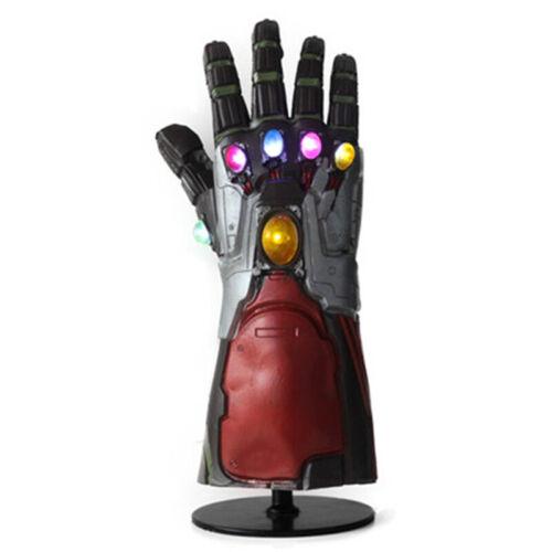 Avengers Endgame LED Latex Glove Infinity Stone Gauntlet Iron Man Cosplay Props
