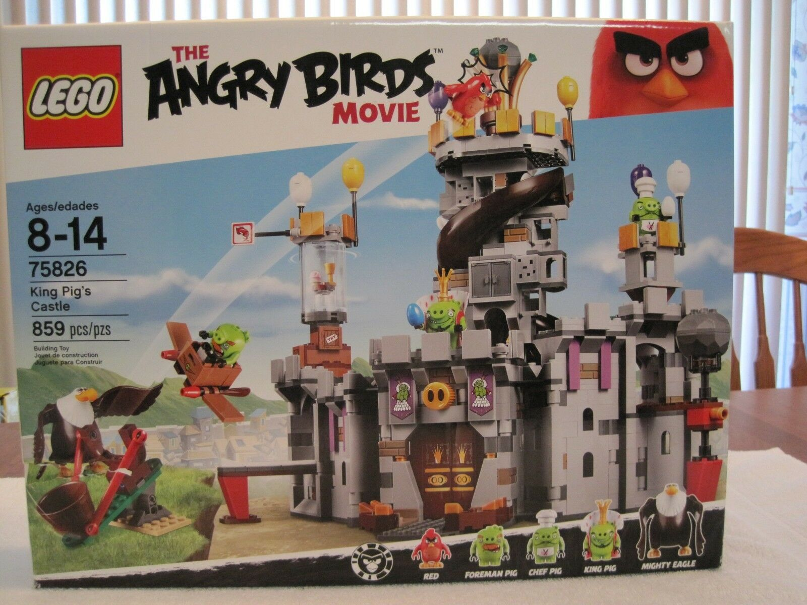 LEGO 75826 THE ANGRY BIRDS MOVIE KING PIG'S CASTLE--NEW--FACTORY SEALED