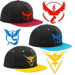 Pokemon Go Team Valor Team Mystic Team Instinct Pokemon Cap Hat Men ... a5d4dfef67c