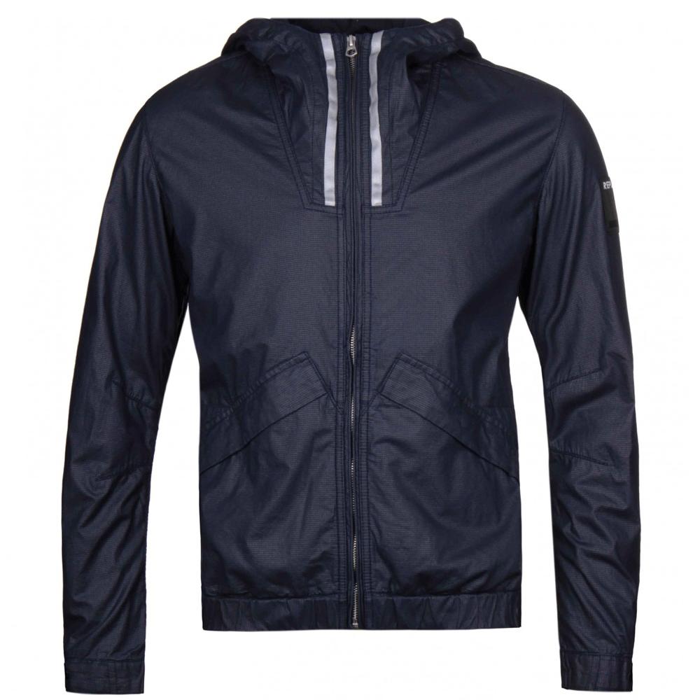 Replay Jeans Navy blu Giacca con cappuccio m8817 82704 010 Cappotto Spedizione in tutto il mondo