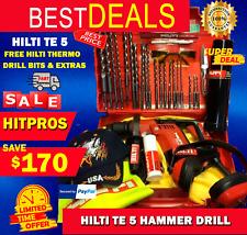 Hilti Te 5 Hammer Drill Lk Free Hilti Thermo Free Drill Bits Fast Shipping