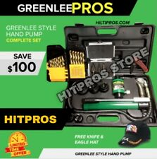 Greenlee Style Hydraulic Pump Set New Knockout Set Free Extras Fast Ship