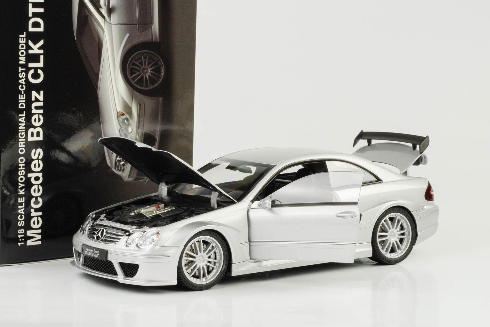 Mercedes-Benz CLK DTM AMG Coupé Coupé Coupé DTM Street c209 argent 1 18 Kyosho 174406