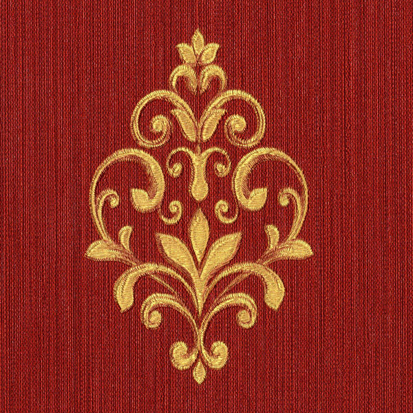 90605 Neapolis 2 Damask Copper /& Red Galerie Wallpaper