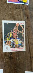 1984-85 STAR 85 SIGNED CARD DARNELL VALENTINE TRAILBLAZERS CLIPPERS KANSAS # 171