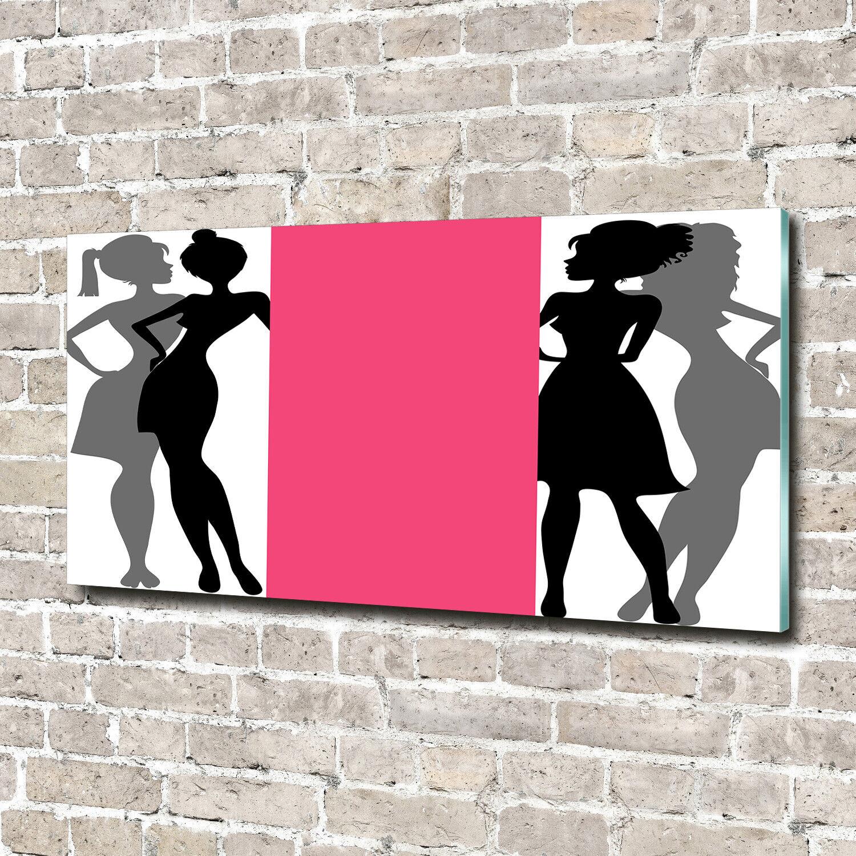Acrylglas-Bild Wandbilder Druck 140x70 Deko Kunst Frauen Silhouetten