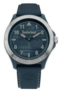 Timberland-Men-039-s-Quartz-Watch-Blue-Dial-And-blue-Silicon-Strap-15925JPBLS-03P