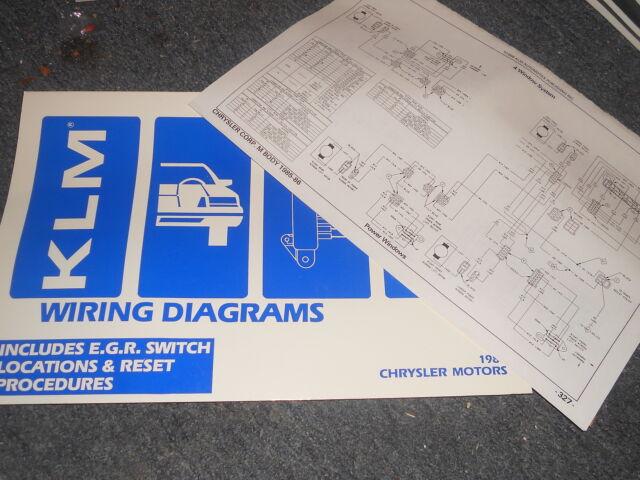 1987 Dodge Daytona Chrysler Laser Wiring Diagrams Manual