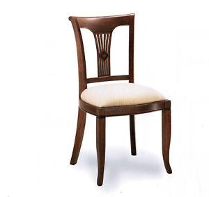 Sedia imbottita soggiorno salotto classica ebay for Sedie x salotto
