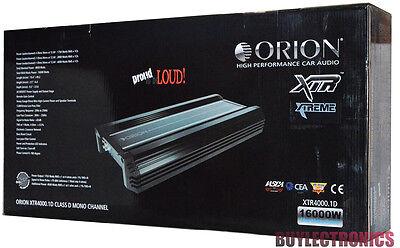 Orion XTR4000.1D Mono Car Amplifier Xtreme Series/ 8000Watts Class D Orion Amp