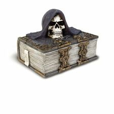 Alchemy Gothic The Alchemist's Box Reaper Skeleton Resin Jewellery Trinket Box