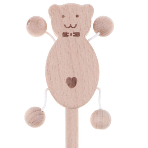 Wooden Baby Rattle Montessori Toy for Newborn Baby Boy and Girl Rattle-Drum