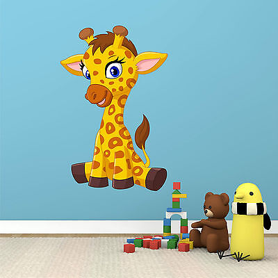 Wall Stickers Giraffe Baby Cute Animal Kids Window Decal 3D Art Vinyl Room C018