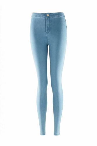 Ladies KM Branded Super Stretchy High Waisted Skinny Jeans Sizes UK 6,8,10,12