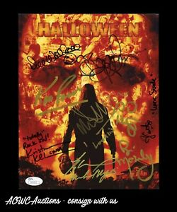 Details About Autographed 8x10 Photo   Rob Zombieu0027s Halloween   Cast Signed  By 9   JSA Cert